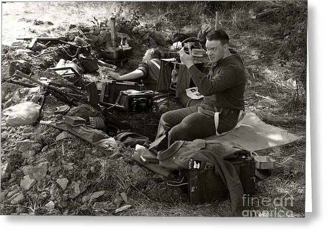 Cease Fire Greeting Cards - WW2. British Soldier 2 Greeting Card by Ladi  Kirn