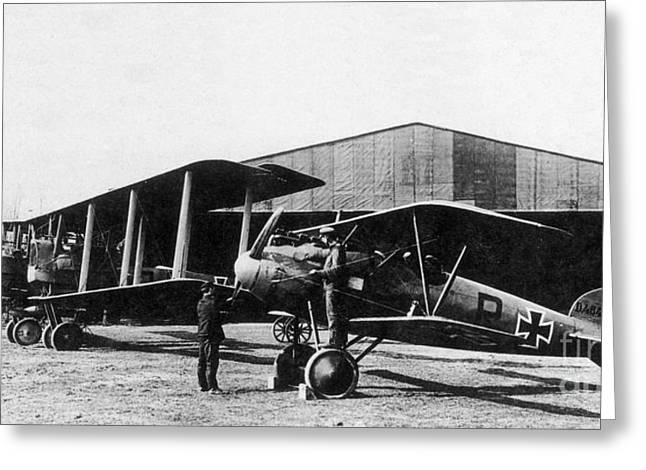 Air Service Greeting Cards - Wwi, Albatros With Gotha, German Greeting Card by Photo Researchers