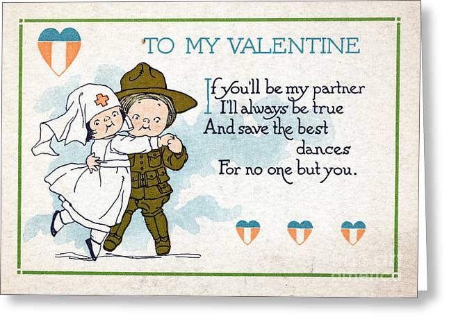 Wwi Greeting Cards - Wwi, For No One But You, Valentine Greeting Card by Science Source