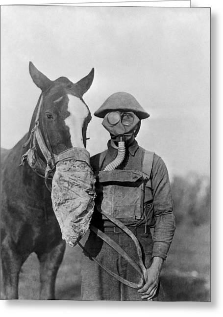Wwi Gas Masks Greeting Card by Otis Historical Archives, National Museum Of Health And Medicine