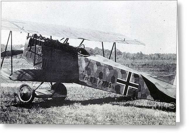 Wwi Greeting Cards - Wwi, German Fokker D Vii Fighter Plane Greeting Card by Photo Researchers