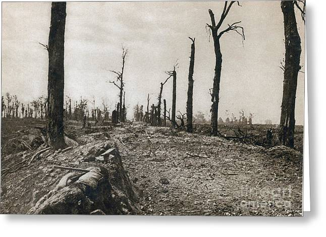 Somme Greeting Cards - Wwi, Ruins Of Somme, 1916 Greeting Card by Photo Researchers