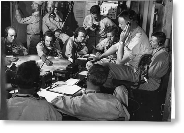 Carousel Collection Greeting Cards - Wwii: Chart Room, 1943 Greeting Card by Granger