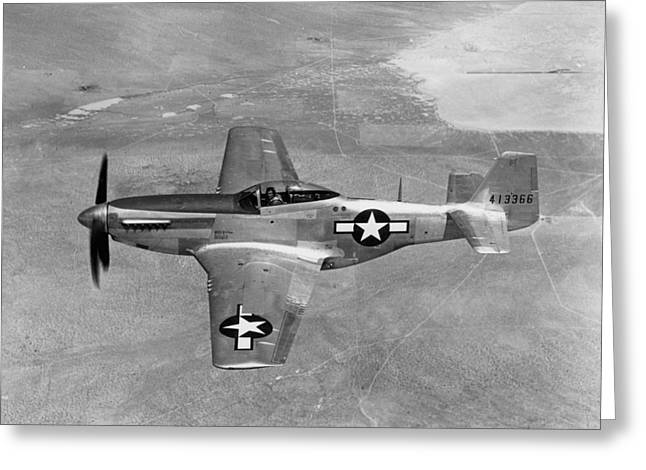 Wwii: Mustang Fighter Greeting Card by Granger