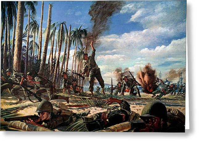 1944 Greeting Cards - Wwii: Pacific Campaign 1944 Greeting Card by Granger