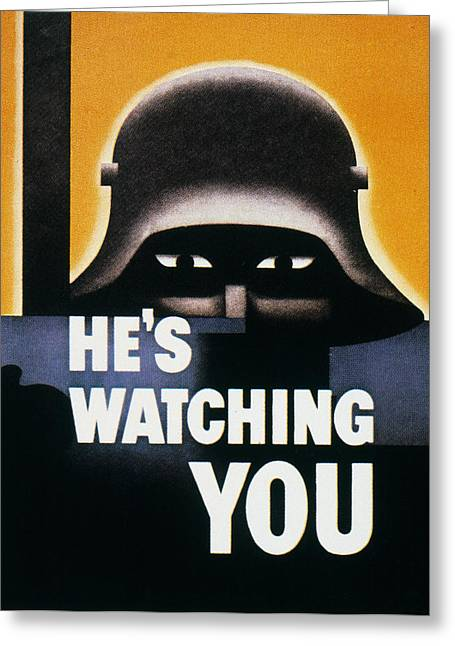 Anti-discrimination Photographs Greeting Cards - Wwii: Propaganda Poster Greeting Card by Granger