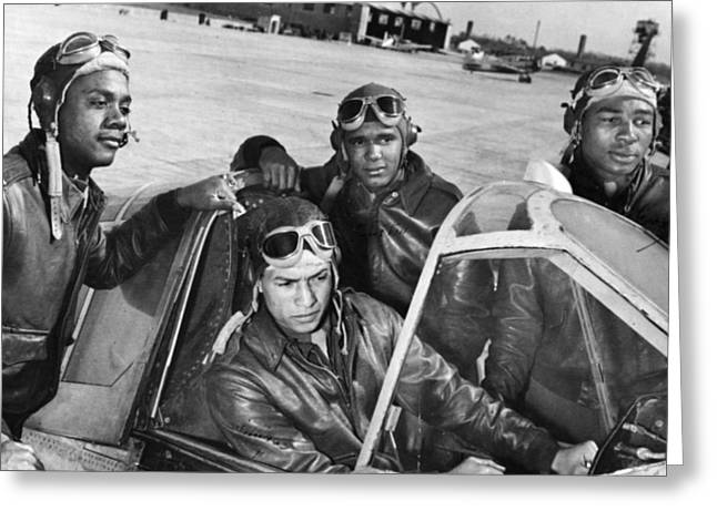 U.s. Army Air Corps Greeting Cards - Wwii: Tuskegee Airmen Greeting Card by Granger