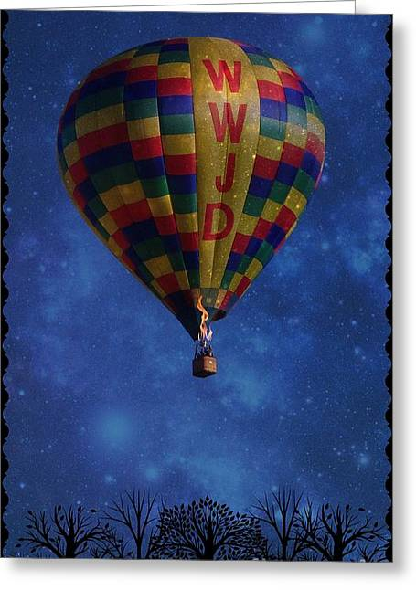 Graphics Framed Prints Greeting Cards - WWJD Balloon Greeting Card by Bobbee Rickard