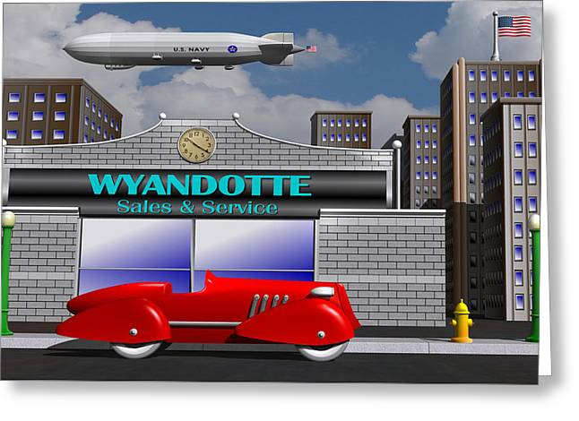 Wyandotte Racer Greeting Card by Stuart Swartz