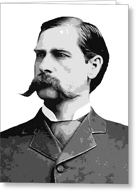 Masterson Greeting Cards - Wyatt Earp Old West Legend Greeting Card by Daniel Hagerman