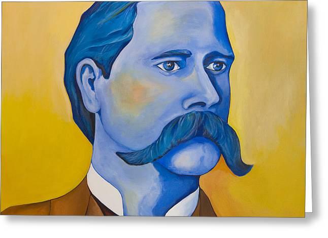 Lawmen Greeting Cards - Wyatt Earp Greeting Card by Robert Lacy