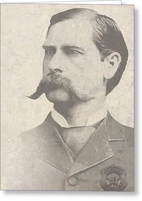 Recently Sold -  - Victorian Greeting Cards - Wyatt Earp U. S. Marshal Greeting Card by Daniel Hagerman