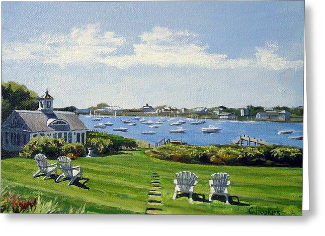 Recently Sold -  - Chatham Greeting Cards - Wychmere Harbor Harwich Port Massachusetts Cape Cod Massachusetts Greeting Card by Christine Hopkins