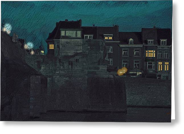 Wyck by Night Greeting Card by Nop Briex