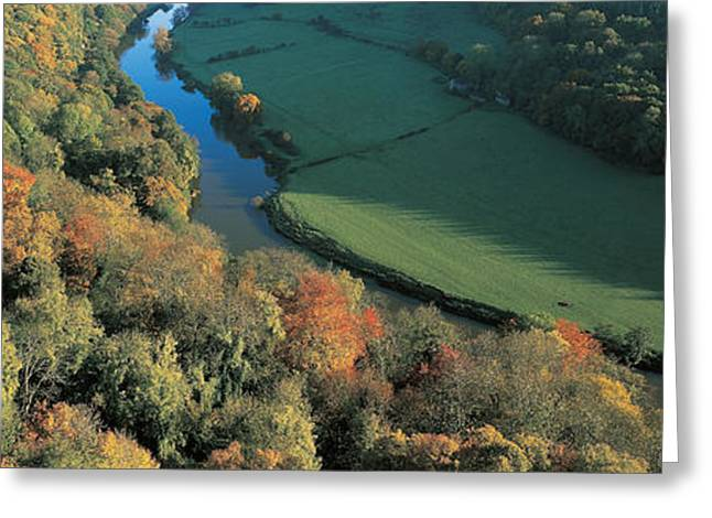 Fall Grass Greeting Cards - Wye Valley S Wales Greeting Card by Panoramic Images