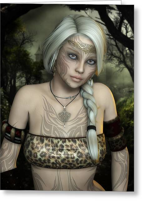 Forest Dweller Greeting Cards - Wylde Greeting Card by Rachel Dudley