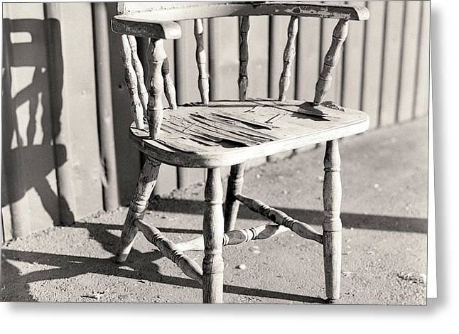 Empty Chairs Photographs Greeting Cards - Wylies Chair Greeting Card by Will Gunadi