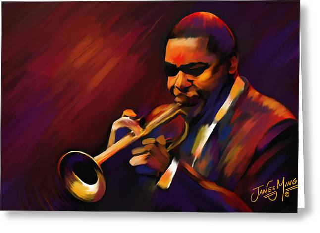 Lounge Paintings Greeting Cards - Wynton Greeting Card by James  Mingo