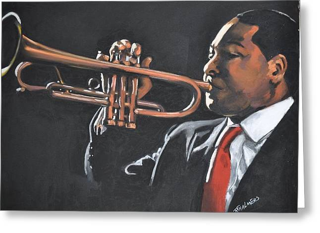 Horns Pastels Greeting Cards - Wynton Marcallus Greeting Card by Rufus Chalmers