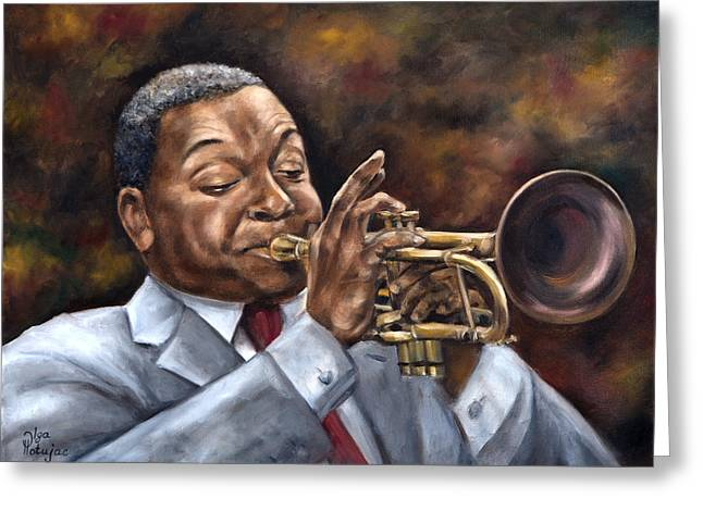 Sell Art Online Greeting Cards - Wynton Marsalis Greeting Card by Olga Hotujac