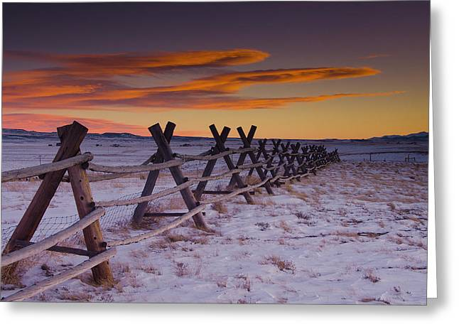 Idaho Photographs Greeting Cards - Wyoming Apocalypse Greeting Card by Aaron S Bedell