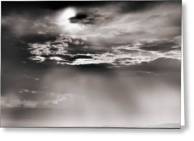 Wyoming Cloud Light Greeting Card by Leland D Howard