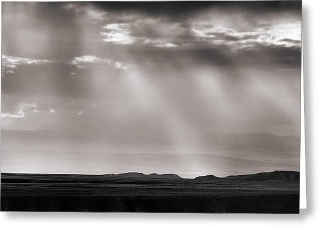 Wyoming Cloud Light Panoramic Greeting Card by Leland D Howard