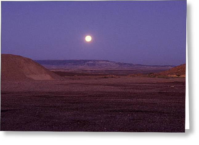 Moonrise Greeting Cards - Wyoming Moon Greeting Card by Elena Bouvier