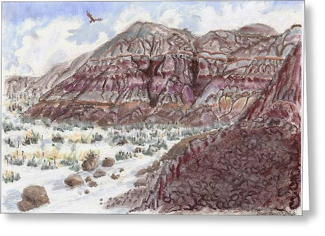 American Eagle Pastels Greeting Cards - Wyoming Painted Hills Greeting Card by Dawn Senior-Trask