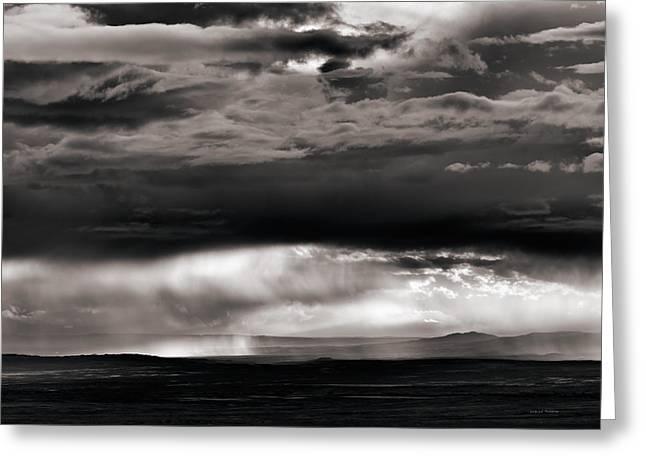 Wyoming Storm Drama Greeting Card by Leland D Howard