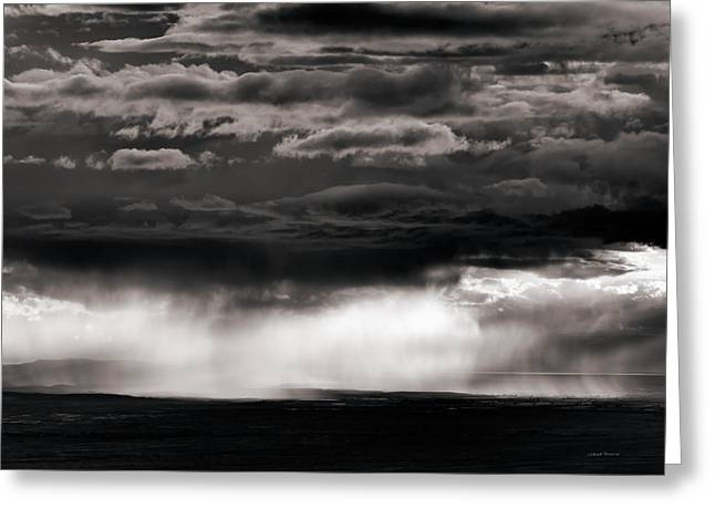 Wyoming Storm Light Greeting Card by Leland D Howard