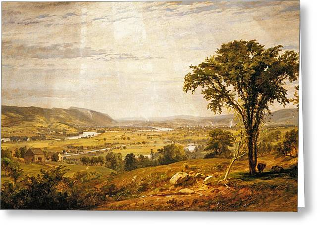 Cropsey Greeting Cards - Wyoming Valley. Pennsylvania Greeting Card by Jasper Francis Cropsey