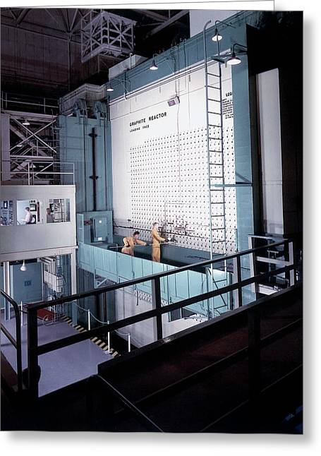 X-10 Graphite Reactor Greeting Card by Us Department Of Energy