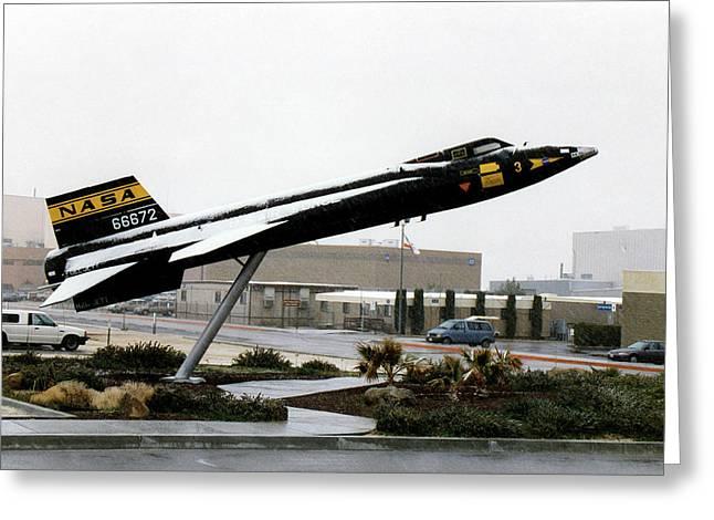 X-15 Aircraft Replica Installation Greeting Card by Nasa