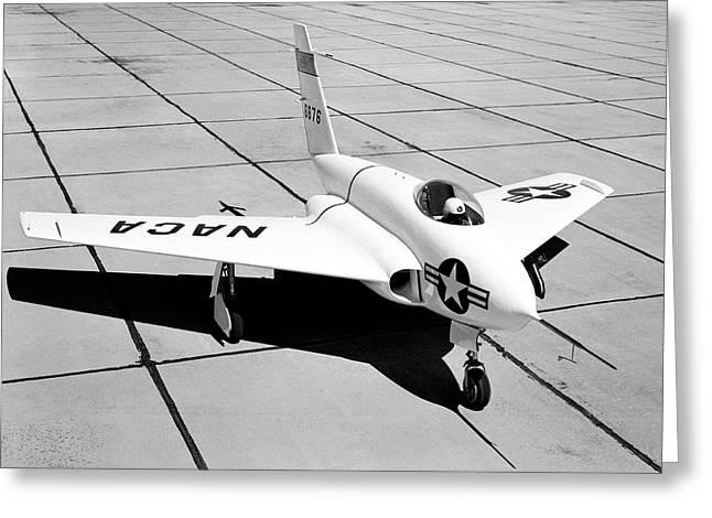 X-4 Bantam Experimental Aircraft Greeting Card by Nasa Photo / Naca/nasa