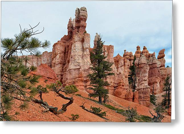 Beautiful Scenery Greeting Cards - Bryce Canyon National Park Greeting Card by Nomad Art And  Design