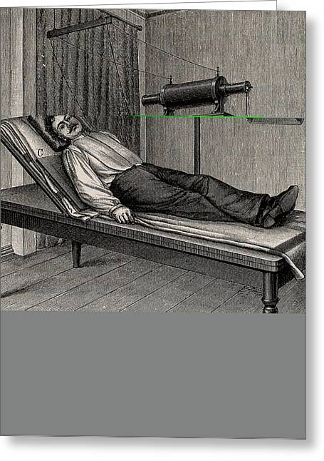 X-ray Of A Patient's Thorax Greeting Card by Universal History Archive/uig