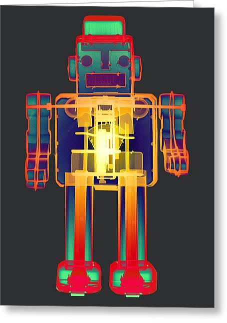 Recently Sold -  - Modern Digital Art Digital Art Greeting Cards - X-ray Robot BB No.1 Greeting Card by Roy Livingston