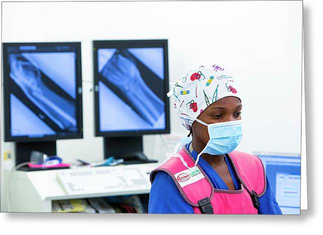 X-ray Use During Surgery Greeting Card by Mark Thomas