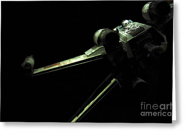 X Wing Greeting Cards - X-Wing Fighter Greeting Card by Micah May