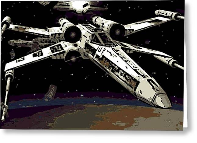 X Wing Greeting Cards - X Wing Greeting Card by George Pedro