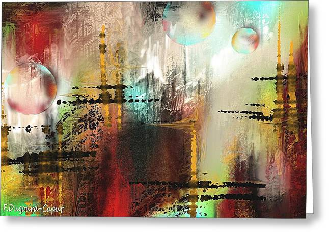 Abstract Digital Paintings Greeting Cards - Xanadoo Greeting Card by Francoise Dugourd-Caput