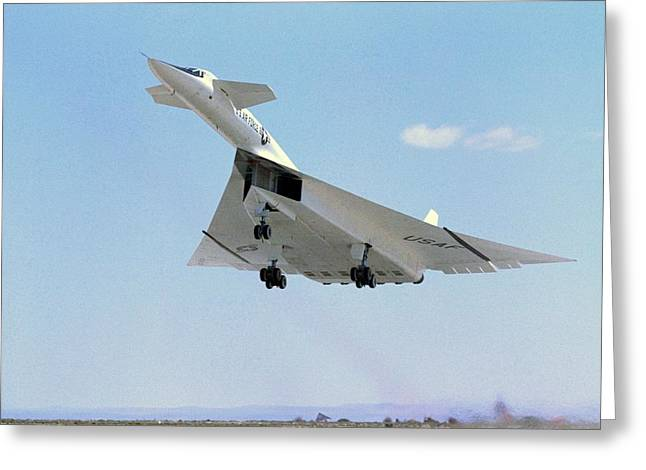 North American Aviation Greeting Cards - XB-70 Valkyrie supersonic aircraft, 1965 Greeting Card by Science Photo Library