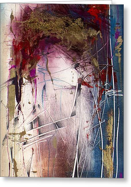 Abstract Expressionist Greeting Cards - Xela 6 Greeting Card by Jeannette Debonne