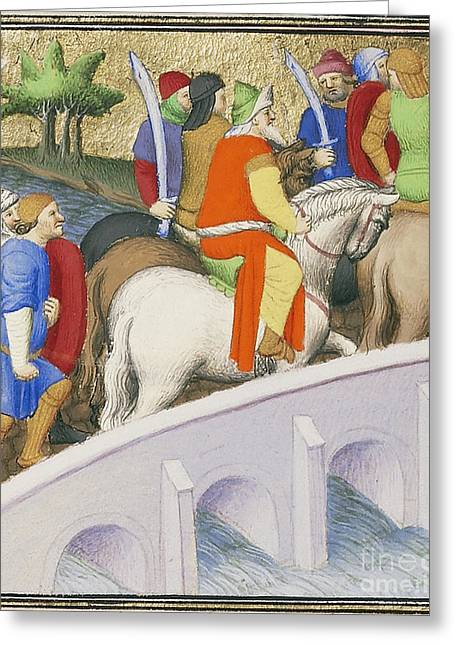 Persian Illustration Greeting Cards - Xerxes I And Persian Army Invade Greece Greeting Card by Getty Research Institute