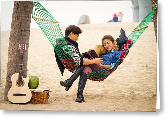China Beach Greeting Cards - Xiamen Lovers Greeting Card by Jacob Knapp
