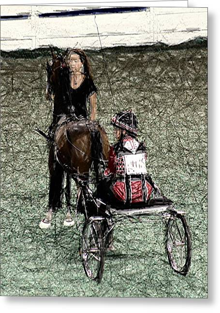 Horse Whip Digital Art Greeting Cards - XIVc - World Championship Horse Show - Louisville KY Greeting Card by Thia Stover