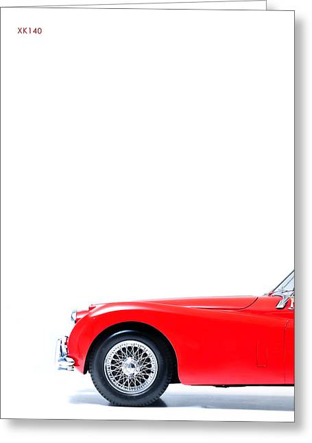 Jaguars Greeting Cards - Xk140 Greeting Card by Mark Rogan