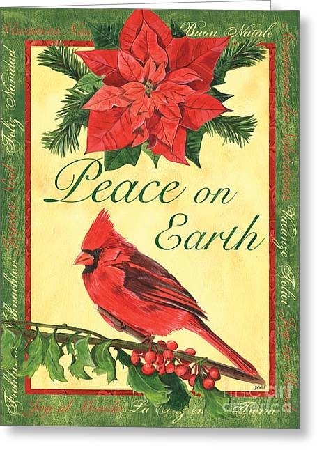 Aviary Greeting Cards - Xmas around the World 1 Greeting Card by Debbie DeWitt