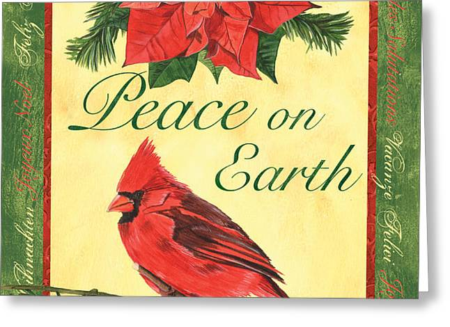 Xmas around the World 1 Greeting Card by Debbie DeWitt
